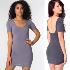 American Apparel Fitted Open Back Dress